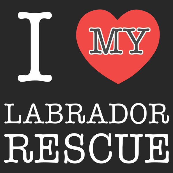 I Heart My Labrador Rescue - Adult Unisex T-Shirt
