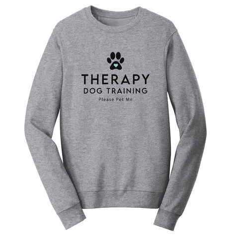 Therapy Dog Training - Adult Unisex Crewneck Sweatshirt