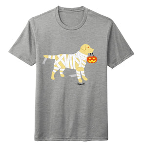Yellow Lab Mummy Trick or Treater - Halloween - Tri-Blend T-Shirt