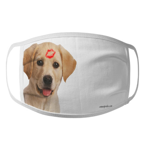 Labradors.com - Yellow Lab Kiss - Face Mask