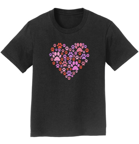 Pink Paw Heart Youth Shirt