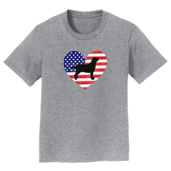 USA Flag Lab Silhouette - Kids' Unisex T-Shirt