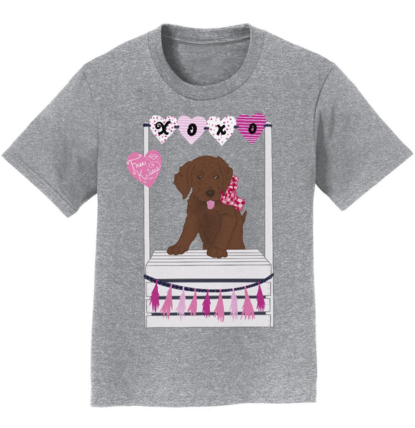 Kissing Booth Chocolate Lab - Youth Tee Shirt