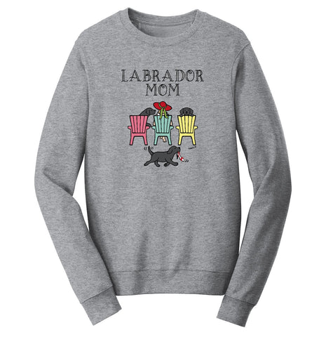 Black Labrador Dog Mom - Mother's Day Deck Chairs Design | Crewneck Sweatshirt