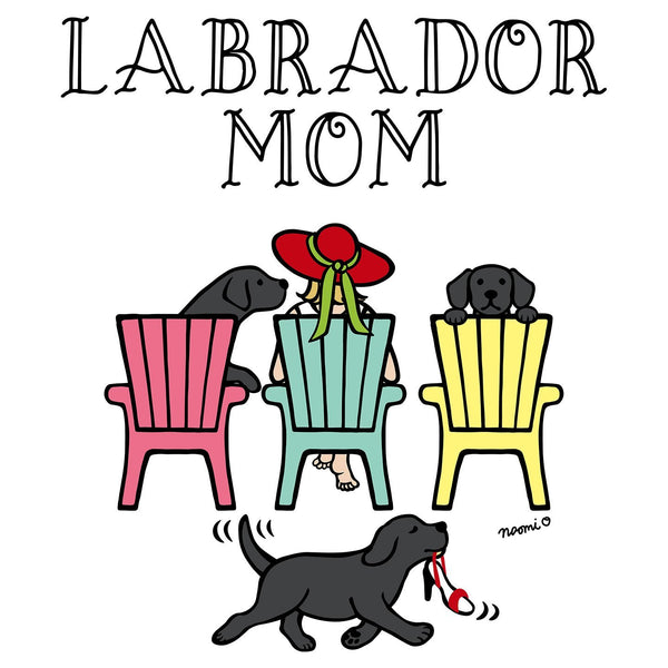 Black Labrador Dog Mom - Deck Chairs Design - Women's Tank Top