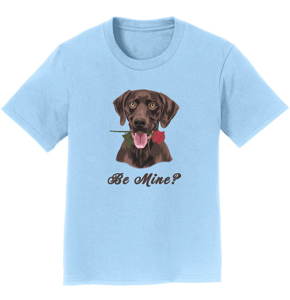 Chocolate Labrador Be Mine Youth Shirt