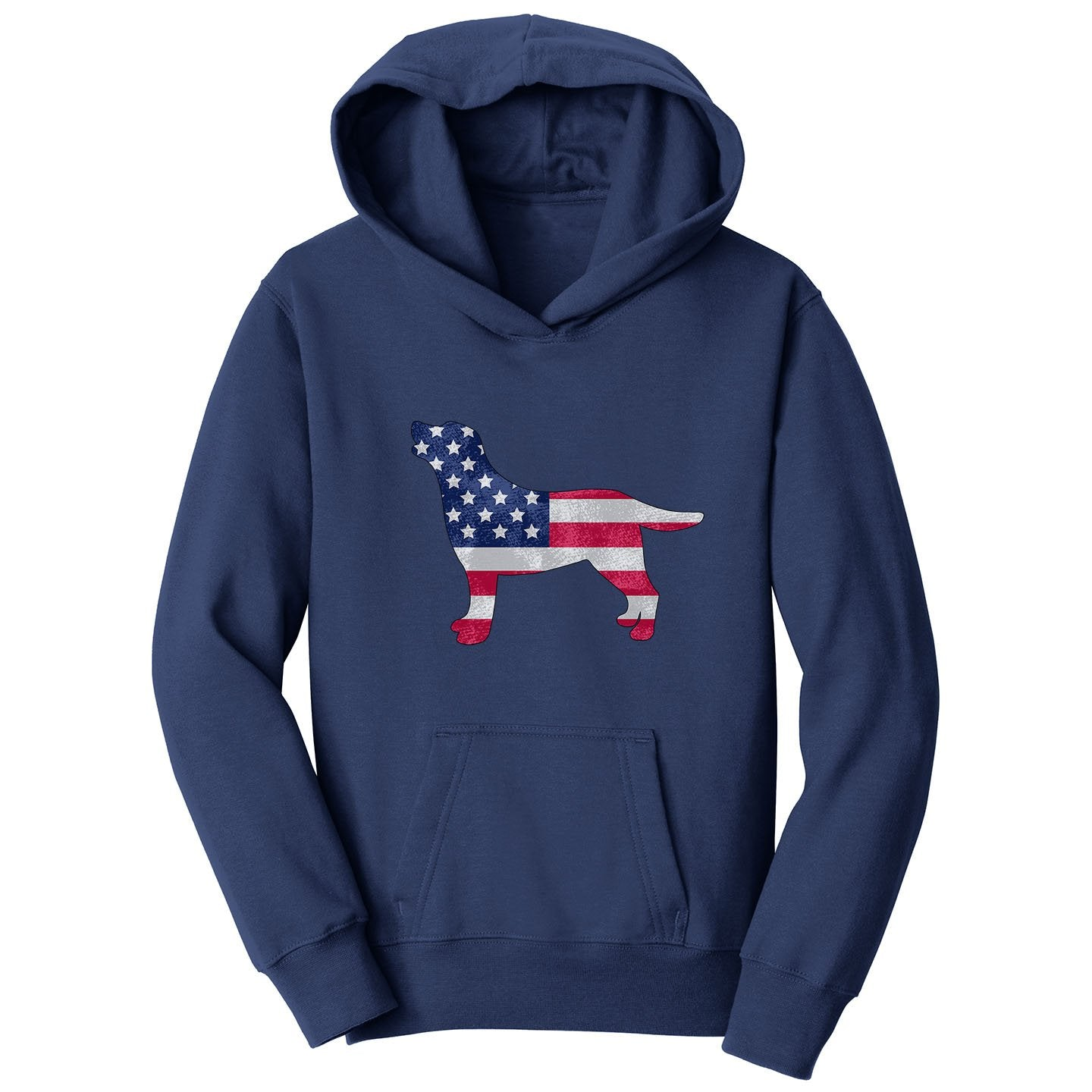 USA Flag Pattern Lab Silhouette - Kids' Hoodie Sweatshirt
