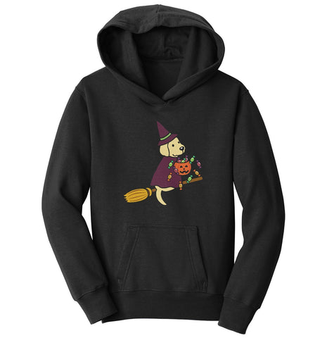 Yellow Lab Witch - Halloween - Kids' Hoodie Sweatshirt