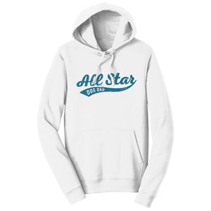 Sport Script - All Star Dog Dad - Adult Unisex Hoodie Sweatshirt - Labradors.com
