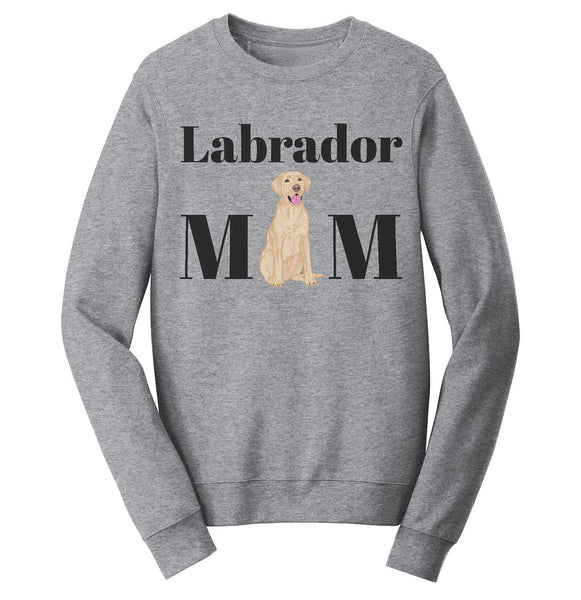 Labradors.com - Yellow Labrador Mom Illustration - Adult Unisex Crewneck Sweatshirt