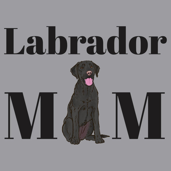 Black Labrador Mom Illustration - Women's V-Neck Long Sleeve T-Shirt