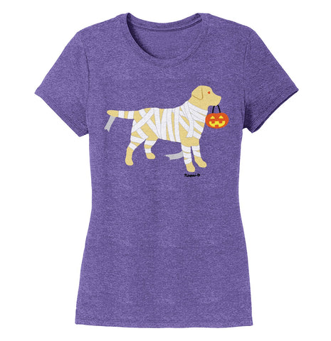 Yellow Lab Mummy Trick or Treater - Halloween - Women's Tri-Blend T-Shirt