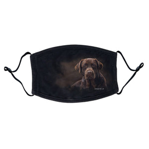 Chocolate Lab Photo Face Mask - Adjustable Ear Loops, Reusable & Washable, Cloth - Labradors.com