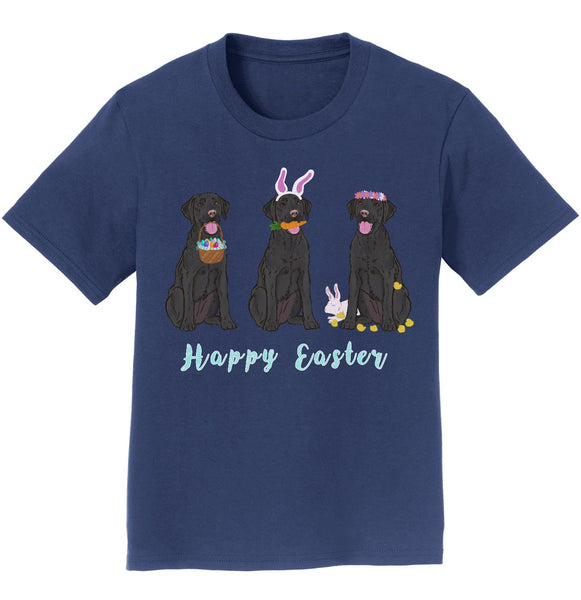 Easter Black Labrador Line Up - Kids' Unisex T-Shirt