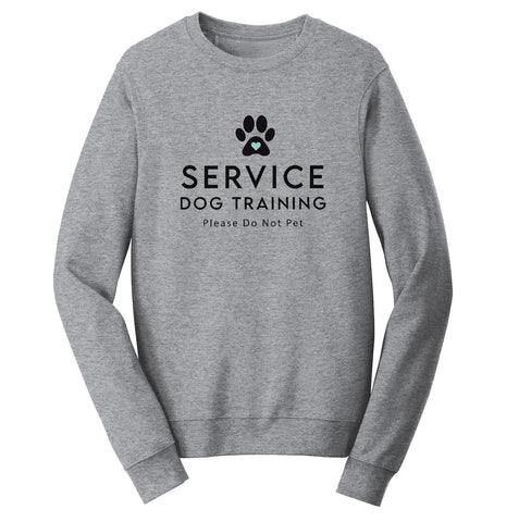 Service Dog Training - Adult Unisex Crewneck Sweatshirt