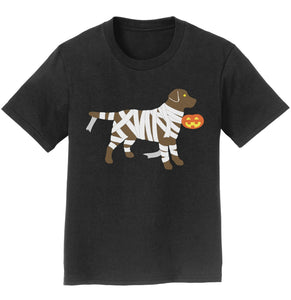 Chocolate Lab Mummy Trick or Treater - Halloween - Kids' T-Shirt