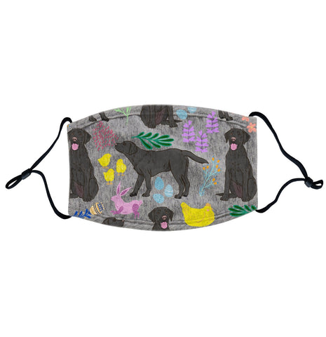 Labradors.com - Black Labrador Easter Mix  - Adult Adjustable Face Mask