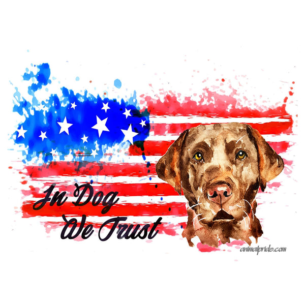 Chocolate Lab In Dog We Trust - Adult Unisex Face Mask