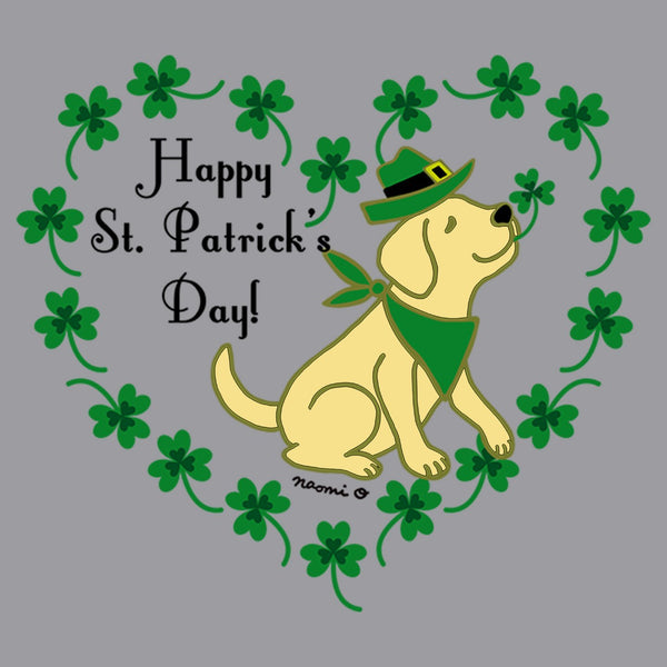 St. Patrick's Day Clover Heart Yellow Lab - Kids' Unisex T-Shirt