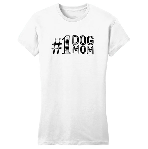 #1 Dog Mom Ladies Tee Shirt