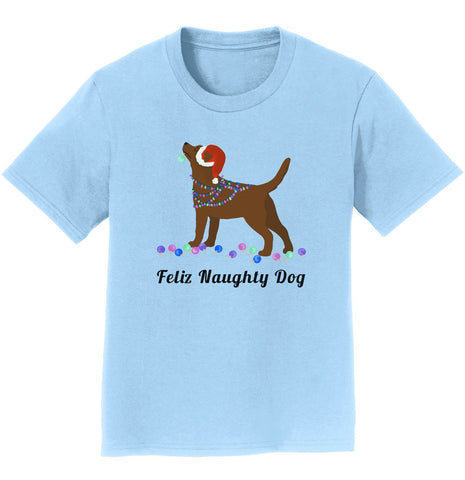 Feliz Naughty Dog Chocolate Labrador- Youth T-Shirt