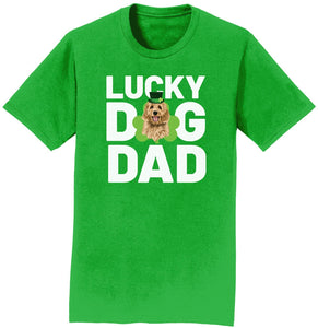 Lucky Dog Dad - Doodle - Adult Unisex T-Shirt