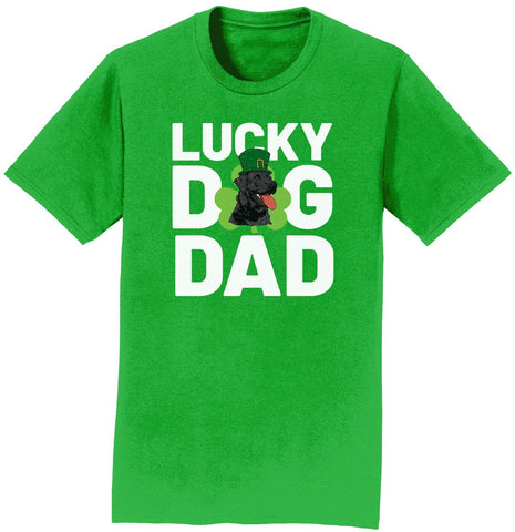Lucky Dog Dad - Lab - Adult Unisex T-Shirt