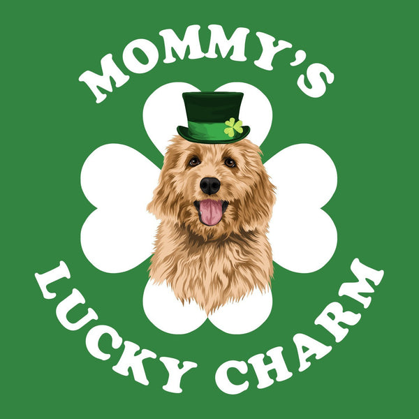 Mommy's Lucky Charm - Doodle in Hat - Women's Fitted T-Shirt