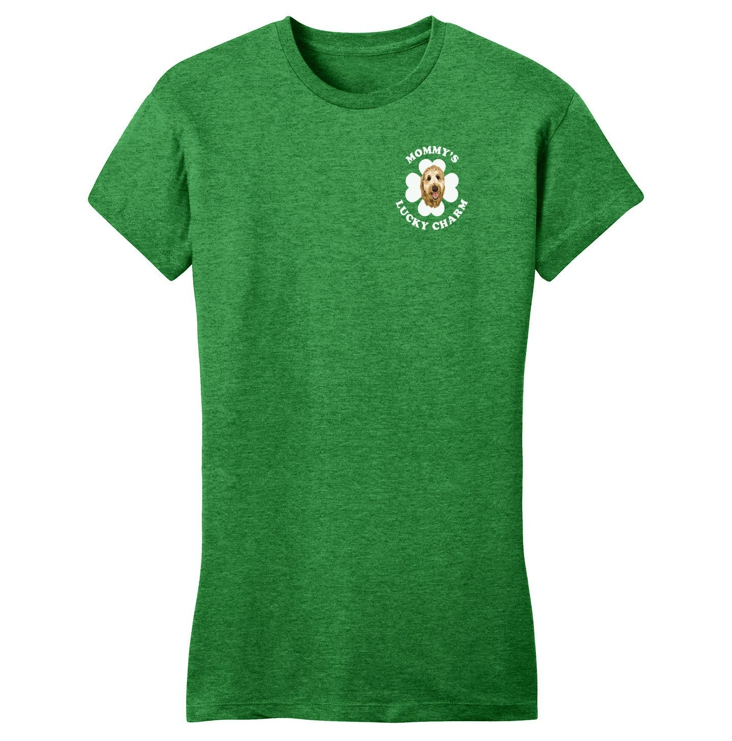 Mommy's Lucky Charm - Doodle - Women's Fitted T-Shirt
