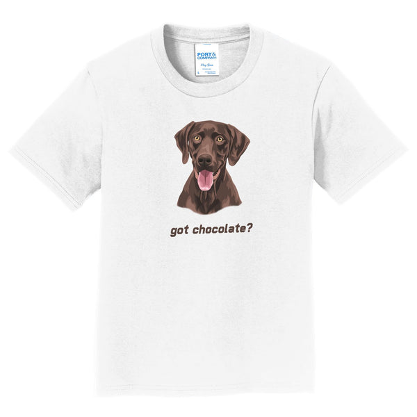 Chocolate Lab (Got Chocolate?) - Kids' Unisex T-Shirt
