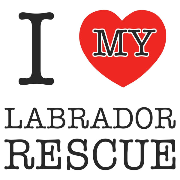 I Heart My Labrador Rescue - Women's Fitted T-Shirt