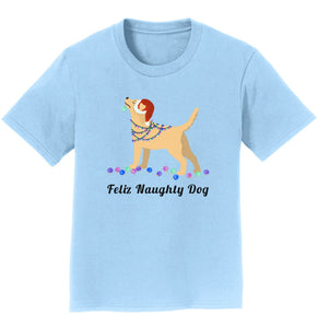 Feliz Naughty Dog Yellow Labrador- Youth T-Shirt