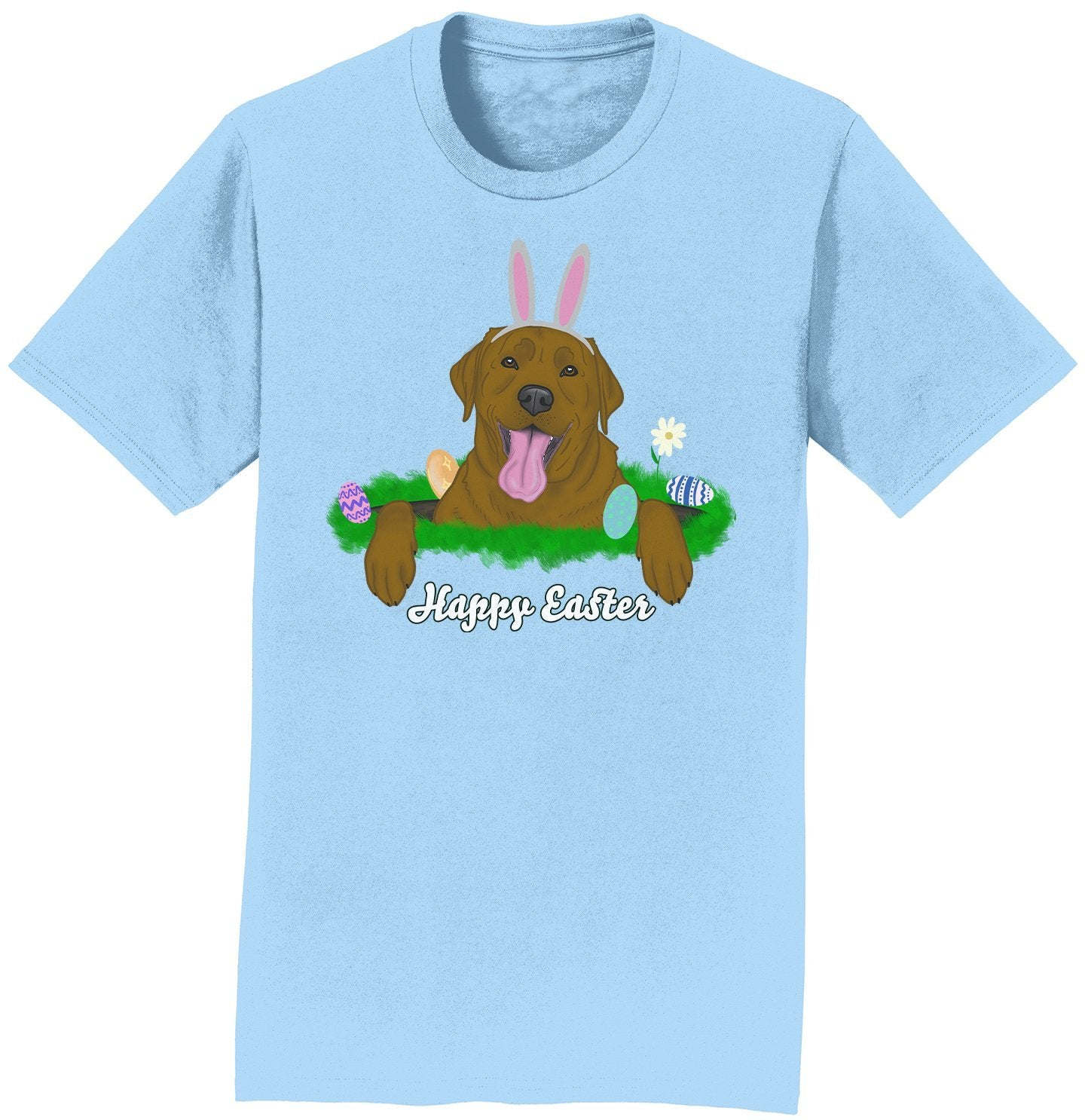 Labradors.com - Rabbit Hole Chocolate Labrador  - Adult Unisex T-Shirt