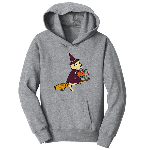 Yellow Lab Witch - Kids' Unisex Hoodie Sweatshirt