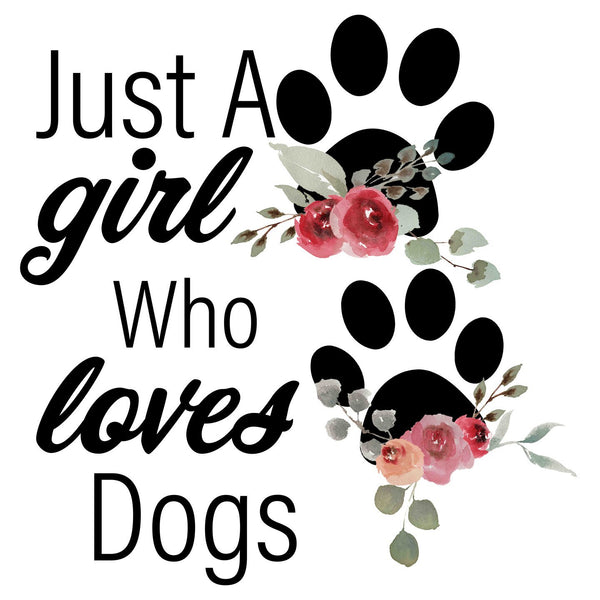 Just A Girl Who Loves Dogs - Women's Fitted T-Shirt