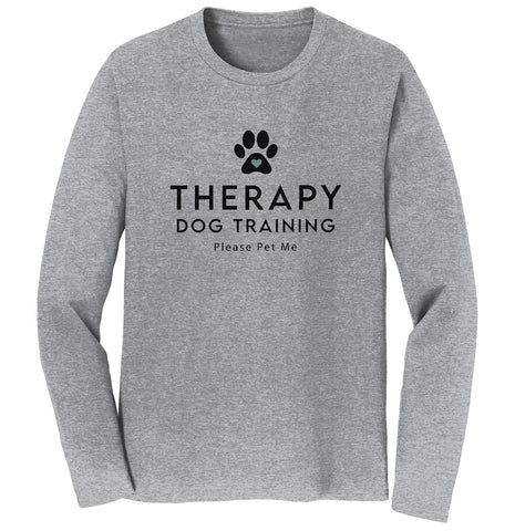 Therapy Dog Training - Adult Unisex Long Sleeve T-Shirt