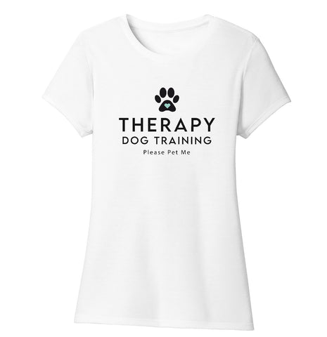 Therapy Dog Training - Women's Tri-Blend T-Shirt