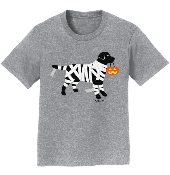 Black Lab Mummy Trick or Treater - Kids' Unisex T-Shirt