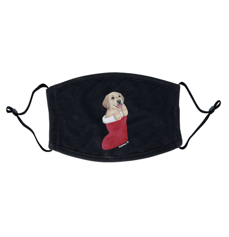 Yellow Labrador in Stocking | Adjustable, Breathable Face Mask