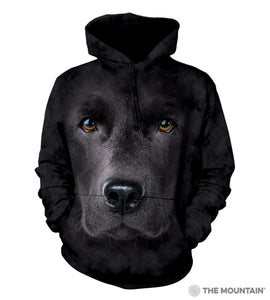 The Mountain Black Lab - Adult Hoodie Sweatshirt