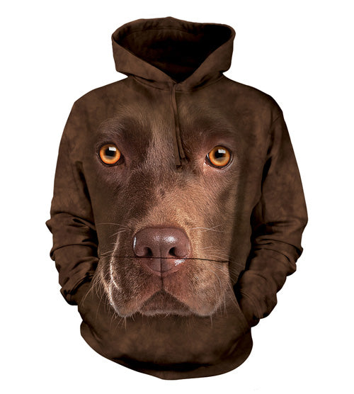 The Mountain Chocolate Lab - Adult Hoodie Sweatshirt