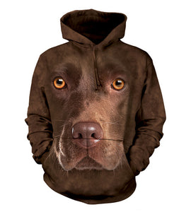 Chocolate Lab - Adult Unisex Hoodie Sweatshirt