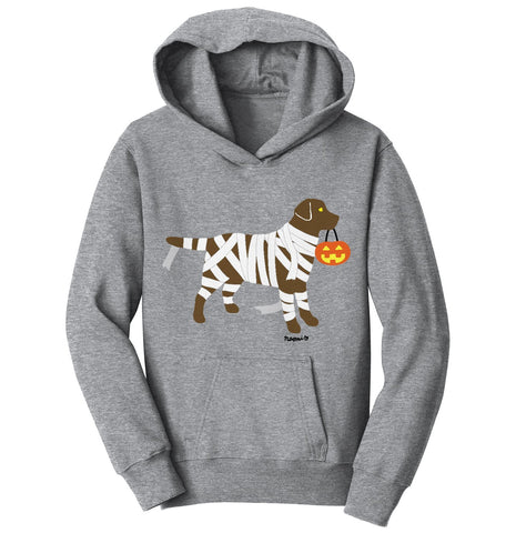 Chocolate Lab Mummy Trick or Treater - Halloween - Kids' Hoodie Sweatshirt