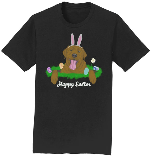 Rabbit Hole Chocolate Labrador  - Adult Unisex T-Shirt