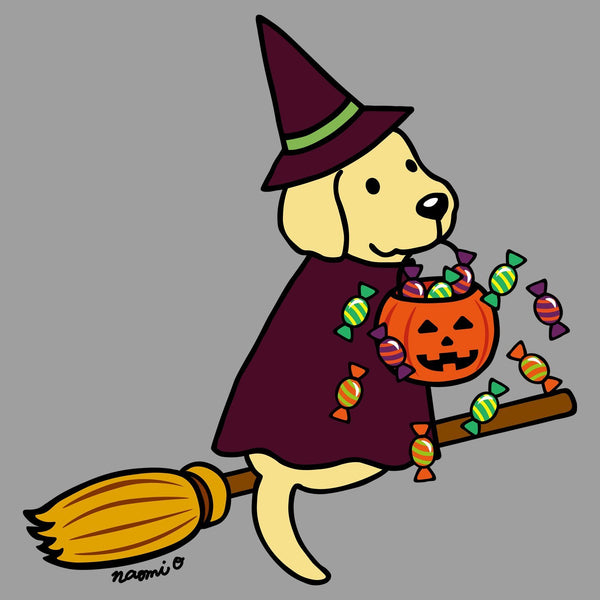 Yellow Lab Witch - Adult Tri-Blend T-Shirt