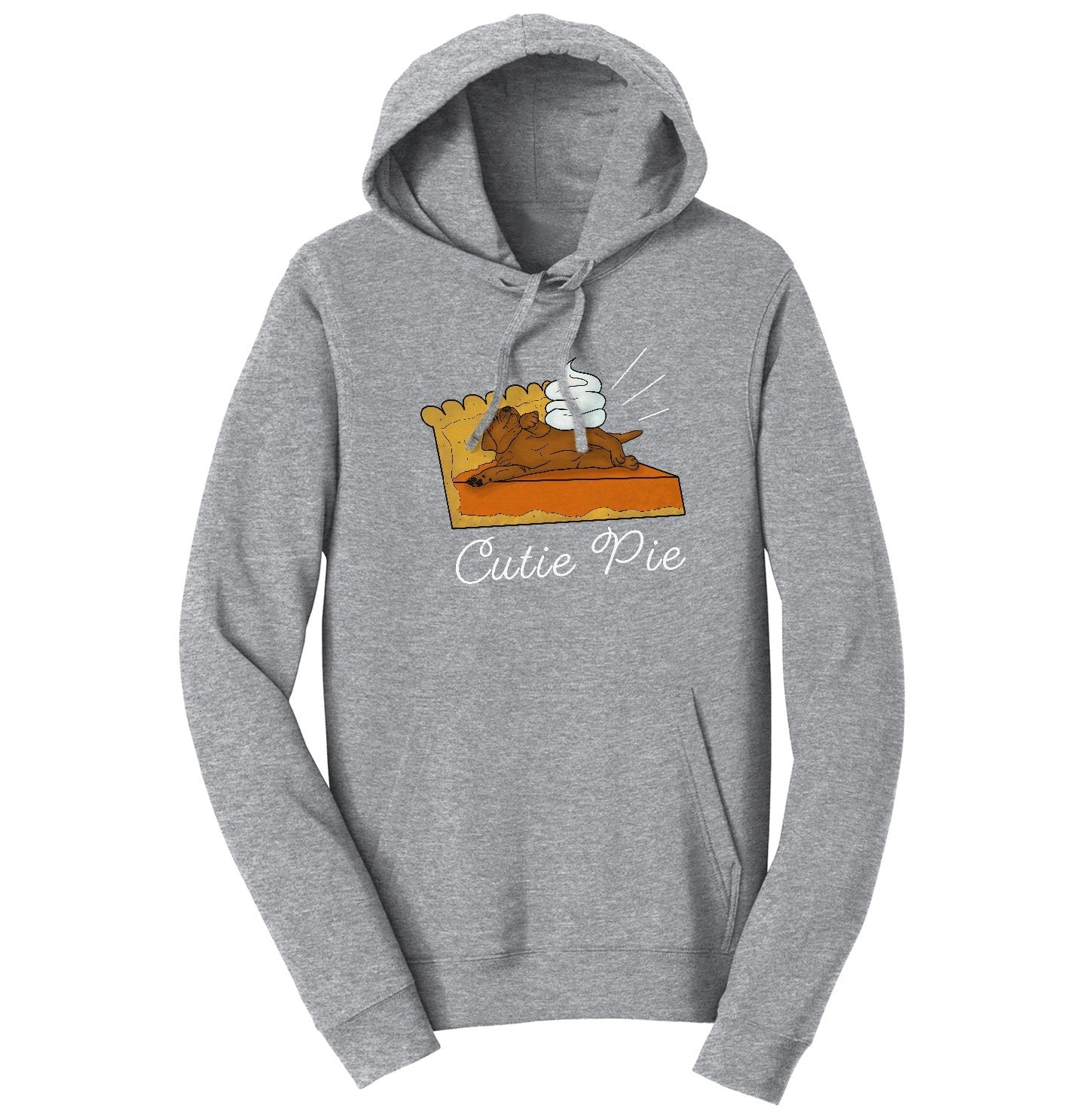 Labradors.com | Cutie Pie Chocolate Lab - Adult Hoodie Sweatshirt