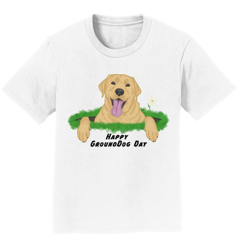 Yellow Labrador Groundhog Day - Kids' Unisex T-Shirt