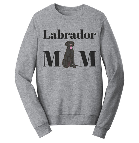 Labradors.com - Black Labrador Mom Illustration - Adult Unisex Crewneck Sweatshirt