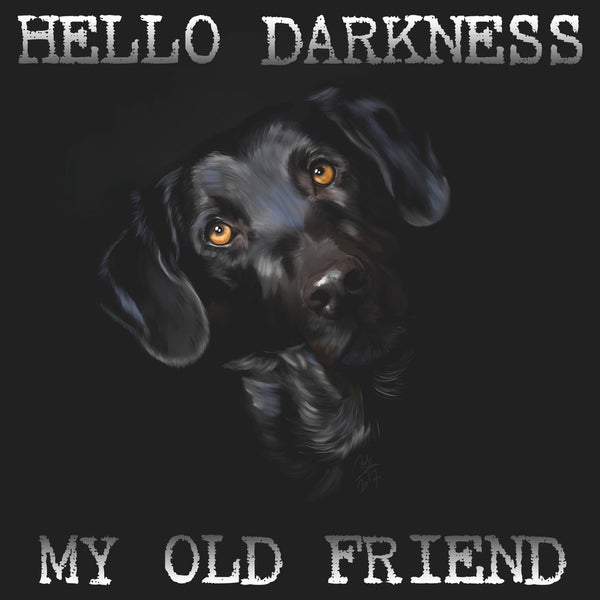 Hello Darkness Labrador - Women's Fitted T-Shirt