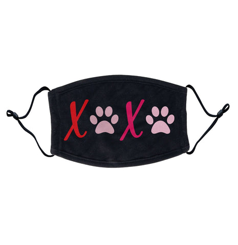 XOXO Dog Paws Adjustable Face Mask